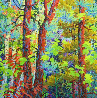 Frank Balaam, 'Three Pines, Green Flight', 2019
