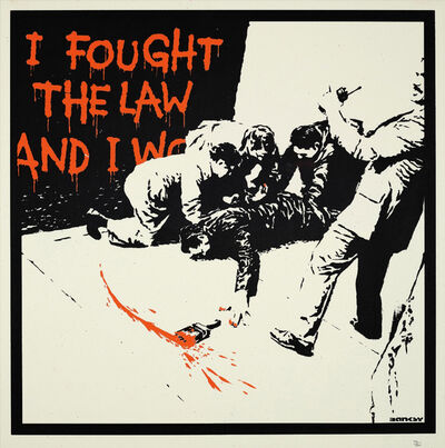 Banksy, 'I FOUGHT THE LAW', 2005
