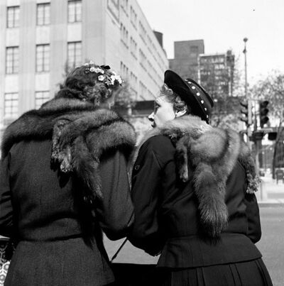 Vivian Maier, '0131541 – Untitled, 1957 2 Women with Fur Shawls', 2017