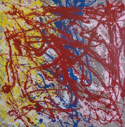 Bill Alpert, 'Untitled Drip in Red, Blue and Yellow', ca. 1971