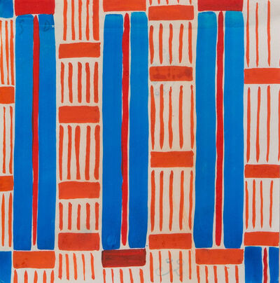 Sonia Delaunay, 'Design 32, Red and Blue Stripes', ca. 20's-30's