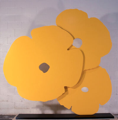 Donald Sultan, 'Donald Sultan, Big Yellow Poppies, 2015', 2015