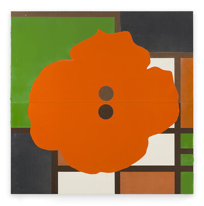 Donald Sultan, 'Orange Button December 17 2015', 2015