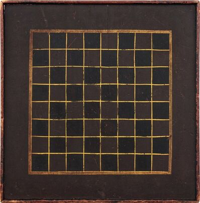 Unknown Artist, 'Checkers Game Board', Late 19th century