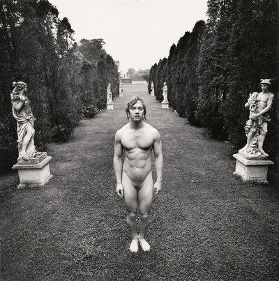 Arthur Tress, 'Hermaphrodite behind Venus and Mercury, East Hampton, NY', 1973/1973c
