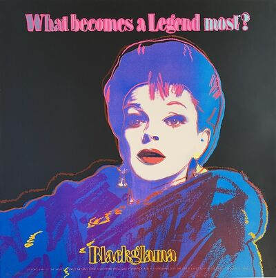 Andy Warhol, 'Blackglama (Judy Garland) F&S II.351', 1985