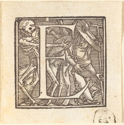 Hans Holbein the Younger, 'Letter E'