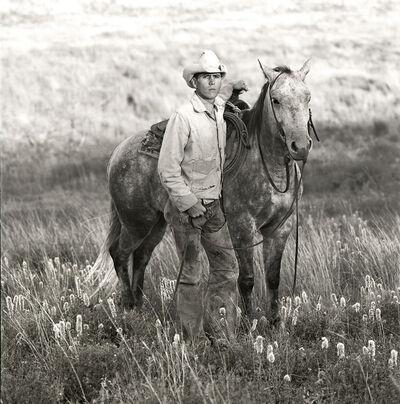 Laura Wilson, 'Mike McClelland, Cowboy, J.R. Green Cattle Company Shackelford County, Texas, April 17, 1990 '