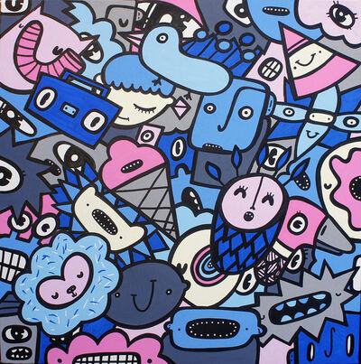 Kev Munday, 'Monster Mash Up (Blue)', 2018