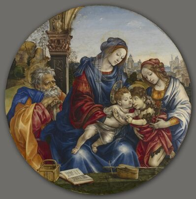 Filippino Lippi, 'The Holy Family with Saint John the Baptist and Saint Margaret', c. 1495