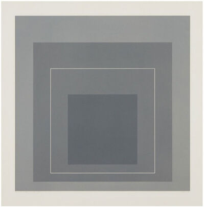 Josef Albers, 'WSL II (From the white line Squares, Series I)', 1966