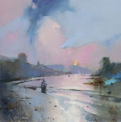 Peter Wileman, 'Evening Light on the Yealm, Noss Mayo', 2018