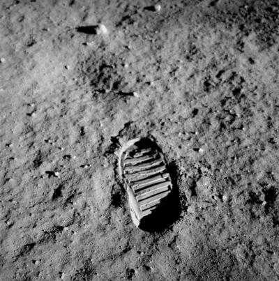 NASA, 'NASA (Crew of Apollo 11 - Buzz Aldrin) Bootprint', 1969