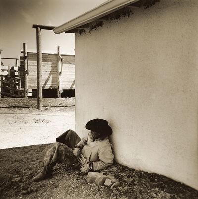 Jules Frazier, 'Cowboy Break, Binion's Ranch, Montana 1998', 2009