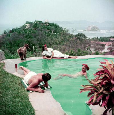 Slim Aarons, 'Dolores Del Rio by the Pool, Acapulco (Slim Aarons Estate Edition)', 1952