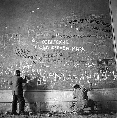 Slim Aarons, 'Chancellery Graffiti ', 1945