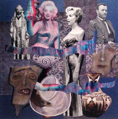Barbara Able, 'Collage 15 - Marilyn Monroe, Ulysses S. Grant, Roy Rogers, Karl Lagerfeld, Gustav Klimt', 2018