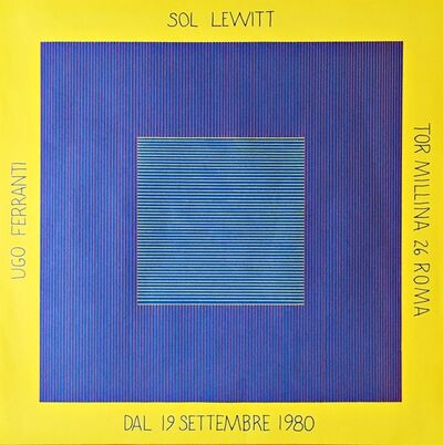Sol LeWitt, 'Sol Lewitt Ugo Ferranti (Hand Signed)', 1980