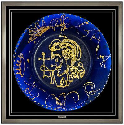 Salvador Dalí, 'Salvador Dali Daum Blue Pate De Verre Plate Signed Triomphale Surreal Artwork', 1970