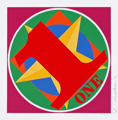 Robert Indiana, 'One, from the American Dream Portfolio', 1997