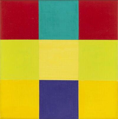Richard Paul Lohse, 'Entwurf B zu waagerechte Dominante mit violettem Quadrat', 1950-1977