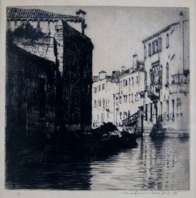 Mortimer Menpes, 'Sunlight and Shadow, Venice', ca. 1910