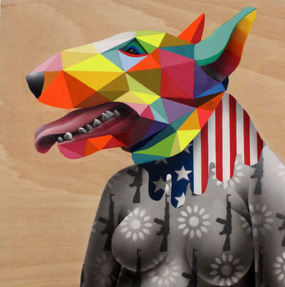 Okuda San Miguel, 'Doggy Mask', 2014