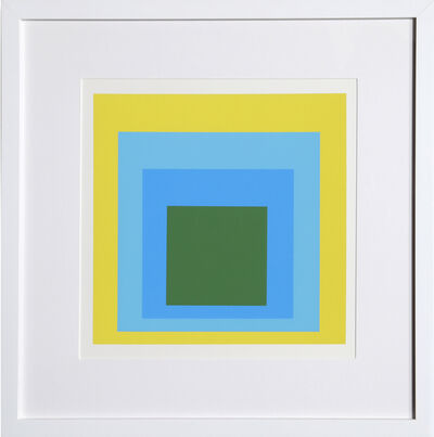 Josef Albers, 'Homage to the Square, Portfolio 1, Folder 5, Image 1', 1972
