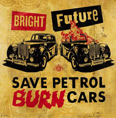 Shepard Fairey X Jamie Reid, 'Bright Future (Gold)', 2012