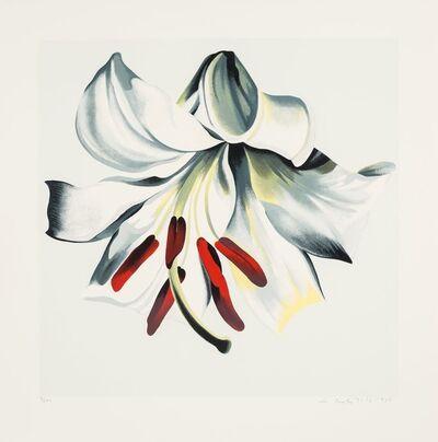 Lowell Nesbitt, 'White Lily on White', 1980