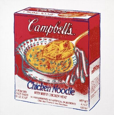 Andy Warhol, 'Chicken Noodle Soup Box', 1986