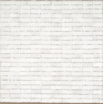 Eric Dever, 'Zinc White on Burlap No. 11', 2009