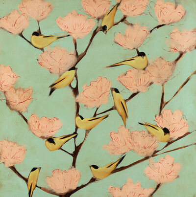 Joseph Bradley, 'Finches and Blossoms', 2019