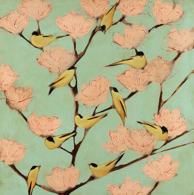Joseph Bradley, 'Finches and Blossoms', 2019