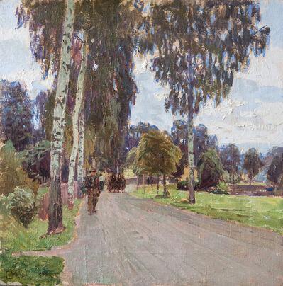 Carl Moll, 'Allee bei Schloss Freudenthal', ca. 1916