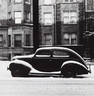 Yasuhiro Ishimoto, 'Chicago [Ford in Snow, Winter]', circa 1950