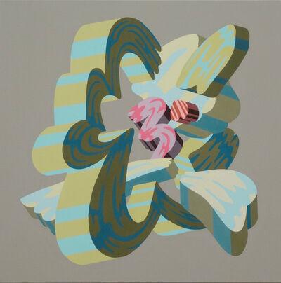 Soichi Yamaguchi, 'Overlap of paint (Flower 3)', 2019