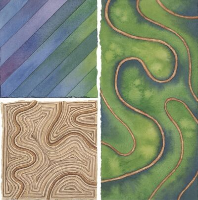 Elaine Bowers, 'Earth Quilt 8'