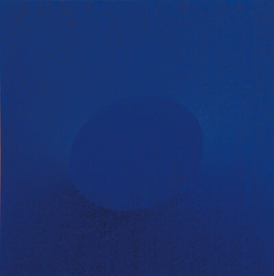 Turi Simeti, 'Un ovale blu', 2015