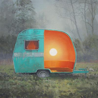 Andrew McIntosh (Mackie), 'Turquoise Egg Caravan', 2016
