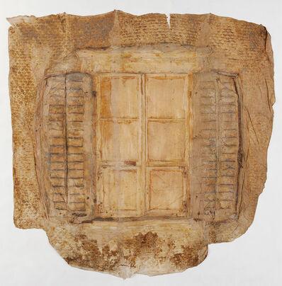 Heidi Bucher, 'Fenster mit Läden und Schindeln, Bellevu', 1988