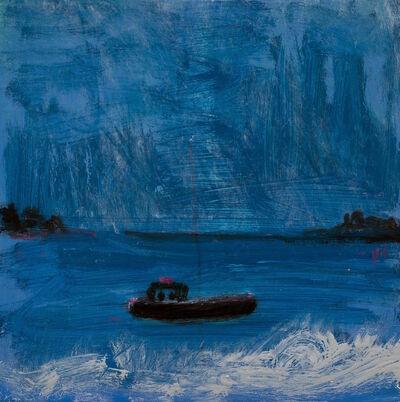 Kathryn Lynch, 'boat in blue', 2017