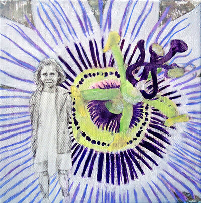 Barbara Ash, 'Passion flower vine on the front of Pippins 2', 2018