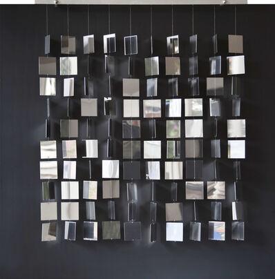 Julio Le Parc, 'Movil cuadrado plateado sobre negro ', 2008