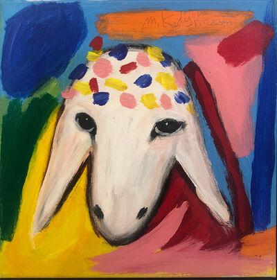 Menashe Kadishman, 'Yellow Sheep', ca. 1990