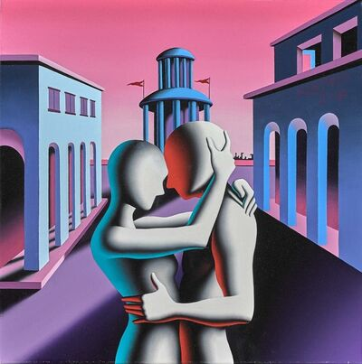 Mark Kostabi, 'Eternal Passion in Metaphysical Paradise', 2018
