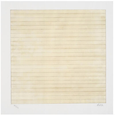 Agnes Martin, 'Untitled', 1998
