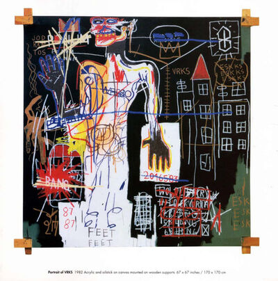 Jean-Michel Basquiat, 'Basquiat announcement card/poster (Tony Shafrazi Gallery)', 1999