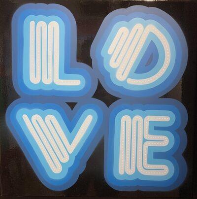 Ben Eine, 'Blue Neon Love', 2019