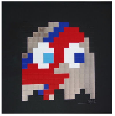 Invader, 'Aladdin Sane (Silver) By Invader', 2014